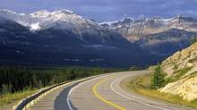 Road in Canadian Rocky Mountains, Banff National Park, Alberta. (Oleksandr Buzko/Getty Images/iStockphoto)