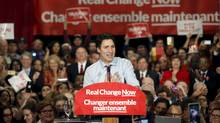 Liberal Leader and Canada's Prime Minister-designate Justin Trudeau speaks to supporters at a rally in Ottawa, October 20, 2015. (PATRICK DOYLE/REUTERS)
