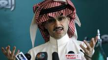 """Our country is facing continuous threat because of its almost total dependency on oil,"" Saudi billionaire Prince Alwaleed bin Talal wrote in a letter copied to King Abdullah, among others. (FAHAD SHADEED/REUTERS)"