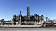 The Parliament of Canada in Ottawa is shown on March 12, 2015. (Dave Chan for The Globe and Mail)