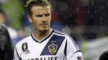 Beckham agreed to play in North America in January, 2007. (Ted S. Warren/AP)