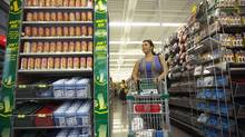 A customer shops at the Dollarama in Vaughan, Ont. (JENNIFER ROBERTS For The Globe and Mail)