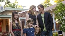 F/X's Married treats marriage as a mausoleum for the soul. The cast (L to R): Ella (Raevan Lee Hanan), Maya (Rachel Eggleston), Frankie (Skylar Gray), Lina Bowman (Judy Greer) and Russ Bowman (Nat Faxon).