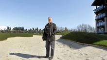 Businessman Ron Toigo at a golf resort he's building in Tsawwassen. Toigo, best known for owning the Giants junior hockey league and the White Spot restaurant chain, is overseeing this development of a Palm Springs style country club and 500-unit housing project, featuring a 5,500-yard golf course. (Laura Leyshon/Laura Leyshon for the Globe and)