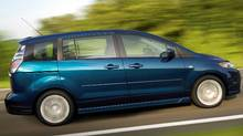 "The Mazda5 was technically known as a ""space wagon."" Mazda (Glenn Gibson)"