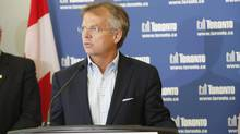 """""""I have to worry about where we're going to get our money from and these large amounts of capital investment ahead of us,"""" said Anthony Haines, CEO of Toronto Hydro. (Gloria Nieto/The Globe and Mail)"""