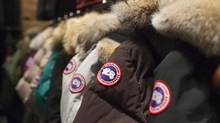 Jackets are on display at the Canada Goose Inc. showroom in Toronto. (Aaron Vincent Elkaim/THE CANADIAN PRESS)
