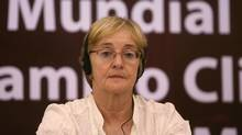 Maude Barlow attends a session of the World People's Conference on Climate Change and the Rights of Mother Earth in Bolivia in 2010. Barlow says she plans to take her Queen Elizabeth II Diamond Jubilee out of its frame and send it back to Gov. Gen. Johnston's office Monday in support of calls from Attawapiskat Chief Theresa Spence and the wave of Idle No More protests. (Juan Karita/The Canadian Press/AP)