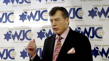 Edgar M. Bronfman Sr., President of the World Jewish Congress, addresses a meeting of The World Jewish Congress American Section Governing Board at the offices of The World Jewish Congress in New York Wednesday, May 9, 2007. Bronfman died Dec. 22, 2013, at the age of 84. (DAVID KARP/AP)