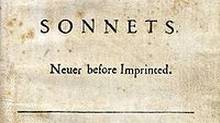 Detail from early Shakespeare sonnet cover