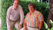Roger Ebert, right, with Gene Siskel, in 1986. (Douglas C. Pizac/AP)