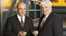 Jim Balsillie and Mike Lazaridis of Research In Motion RIM. (RIM)