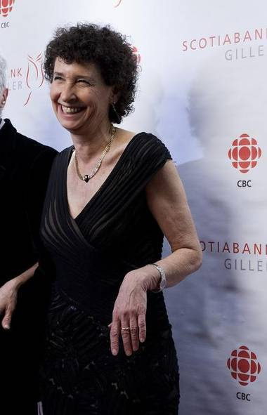 Nominee Nancy Richler, right, stands with her partner, Vicki Trerise. (MICHELLE SIU FOR THE GLOBE AND MAIL)