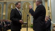 Greg Rickford is sworn in as minister of state for science and technology at Rideau Hall on July 15, 2013. (ADRIAN WYLD/THE CANADIAN PRESS)