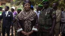 Central African Republic interim president Catherine Samba-Panza will resign next year when elections are scheduled. (Siegfried Modola/REUTERS)