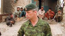 Colonel Pat Stogran, then commander of Canadian Forces in Afghanistan, is shown near Kandahar in April of 2002. (The Canadian Press)