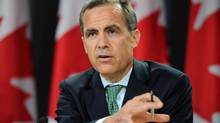 Mark Carney will update his policy stance Wednesday after a week of deliberations with his deputies on the Governing Council and central bank staff. (Sean Kilpatrick/THE CANADIAN PRESS)
