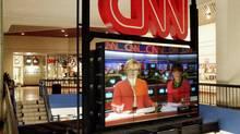The atrium at the CNN Center in downtown Atlanta. (RIC FELD/AP)