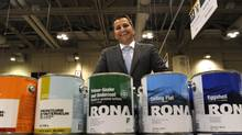 Luc Rodier, Rona's executive vice-president of retail, gave store operators a tour of the company's new, smaller 'satellite' model. (Fred Lum/The Globe and Mail)