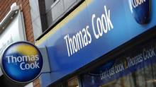 Shares in Thomas Cook crashed 75 per cent on Tuesday as the British travel firm said it was renegotiating its debts and delaying the release of its annual results after a sharp deterioration in business. (PAUL ELLIS/PAUL ELLIS/AFP/GETTY IMAGES)