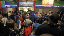 Fans line up for beer at the Toronto Blue Jays home opener against the Boston red Sox April 9, 2012. (Fred Lum/The Globe and Mail/Fred Lum/The Globe and Mail)