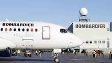 This September 16, 2013 file photo shows the bombardier aircraft CSseries in Mirabel, Que. (CLEMENT SABOURIN/AFP/Getty Images)