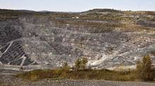 The Jeffrey open-pit asbestos mine is shown on October 7, 2011 in Asbestos, Que. (Jacques Boissinot/THE CANADIAN PRESS)