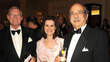 Thor Eaton (left) is pictured with Ruth and Robert Josephson at the St George Society of Toronto's Red Rose Ball on April 1, 2009. (Tom Sandler For The Globe and Mail)