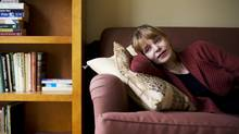 Barbara Gowdy, whose forthcoming Little Sister is her first novel in a decade, had to write it while lying on her back because of severe health problems. (Michelle Siu/The Globe and Mail)