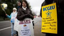 British Columbians won't see workers from three government sectors on picket lines in the next five years. (Rafal Gerszak for The Globe and Mail)