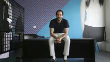 Dov Charney, at his Los Angeles headquarters in 2001, declined to comment yesterday on the possible boardroom fight over the future of American Apparel, the hip t-shirt purveyor he founded. (ANN JOHANSSON/NYT)