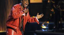 "In this Nov. 3, 2012 file photo, comedian Tracy Morgan performs at ""Eddie Murphy: One Night Only,"" a celebration of Murphy's career at the Saban Theater in Beverly Hills, Calif. (Chris Pizzello/Chris Pizzello/Invision/AP)"