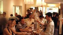 The business crowd heads to Tria for post-work pints.