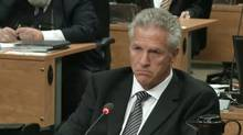 Construction magnate Tony Accurso is seen on an image taken off a television monitor at the Charbonneau inquiry looking into corruption in the Quebec construction industry Wednesday, September 3, 2014 in Montreal. (Paul Chiasson/THE CANADIAN PRESS)