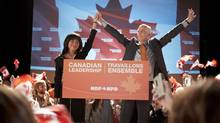 Sook-Yin Lee as Olivia Chow and Rick Roberts as Jack Layton in the biopic Jack. (Allen Fraser)