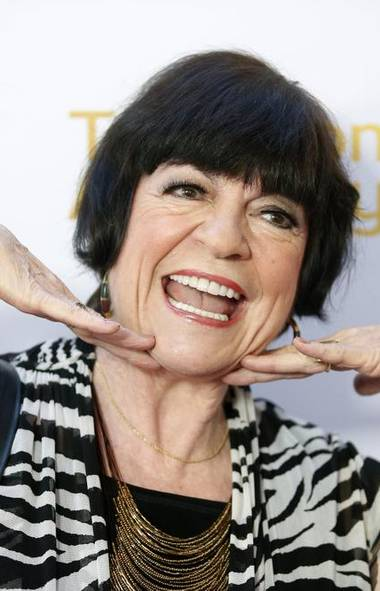 Well, hello, gorgeous. Were you aware there are only 25 days until the 66th Primetime Emmy Awards? To prepare for the occasion, 76-year-old comic actress Joanne Worley hit the red carpet at this week's Emmys cocktail reception in Beverly Hills. Sure, it's been a few years since Laugh-In but she's still got it! (DANNY MOLOSHOK/REUTERS)
