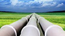 A photo illustration of natural gas pipelines. (iStockPhoto)