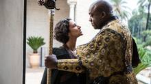 HBO's Game of Thrones, which features actors Indira Varma, left, and Deobia Oparei, is the most pirated show in the world, according to The Guardian.