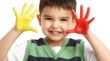 Is there a kid anywhere who does not jump for joy at the prospect of painting all over someone's body? (Thinkstock)