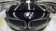 A new BMW luxury car of the 5 series is pictured at the production line of the German car manufacturer's plant in the Bavarian city of Dingolfing. (MICHAELA REHLE/REUTERS)