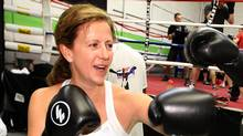 Colleen Peddie, CFO of Bensimon Byrne advertising agency is seen here working out at Clancy's Boxing Academy in Mississauga, Ontario Thursday Dec. 2, 2010. She is training for an upcoming boxing match in Ad Wars, a benefit fight night to raise money for Ronald McDonald House. (Tim Fraser for The Globe and Mail/Tim Fraser for The Globe and Mail)