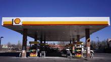 Gas pumps at a Shell gas station are pictured in Westminster, Colo., in this file photo. (RICK WILKING/REUTERS)