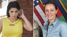 A combination photo shows Jill Kelley (L), a friend of former U.S. General David Petraeus' family, in Tampa, Florida on November 12, 2012 and Petraeus' biographer Paula Broadwell, in an ISAF handout image, originally posted July 13, 2011 (Reuters)