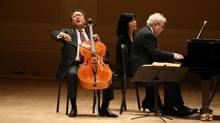 It is Yo-Yo Ma's aura and magnetism on stage that makes him a star, says Vancouver Recital Society director Leila Getz. (MICHELLE V. AGINS/The New York Times)