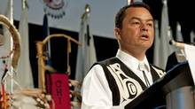 National Chief Chief Shawn Atleo speaks to the Assembly of First Nations in Moncton on July 12, 2011. (David Smith/THE CANADIAN PRESS)