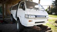 Arnold Klappe used three Delica vans to build one, which he plans to drive around the world. (Rafal Gerszak/Rafal Gerszak)
