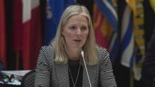 Minister of Environment and Climate Change Catherine McKenna delivers opening remarks at a meeting with her provincial counterparts on Jan. 29 in Ottawa. (Adrian Wyld/THE CANADIAN PRESS)