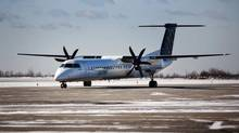 A Bombardier Q400 turboprop aircraft, built in Toronto. Ontario companies are generally bullish about their own prospects, a new report finds, but there are worries. For instance, China is seen as the most critical market in the next 5 to 10 years, but less than 2 per cent of Ontario exports currently go there. (MARK BLINCH/REUTERS)