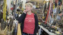 'We as human beings need to live a much more sustainable lifestyle, and in order to do that we need to be sharing,' says Ottawa Tool Library co-founder Bettina Vollmerhausen. (Justin Tang for The Globe and Mail)