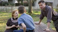 From left: Jessica Chastain, Tye Sheridan, and Brad Pitt in The Tree of Life. (Handout | Merie Wallace/Handout | Merie Wallace)